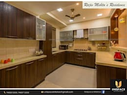 CONTEMPORARY INTERIORS BUNGALOW -RESIDENCE-APARTMENT- VILLA INTERIOR-KITCHEN DESIGN:   by UNISPACE INTERIOR
