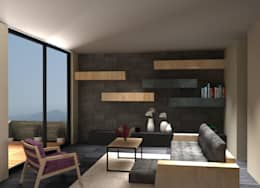 CASA FAMILIA DIAZ: Salas de estilo moderno por CAXÁ studio