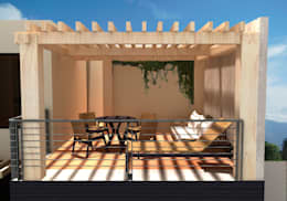 CASA FAMILIA DIAZ: Terrazas de estilo  por CAXÁ studio