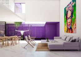 CASA GDL: Salas de estilo minimalista por Obed Clemente Arquitectura