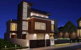 Exterior Facade:  Multi-Family house by Rhomboid Designs