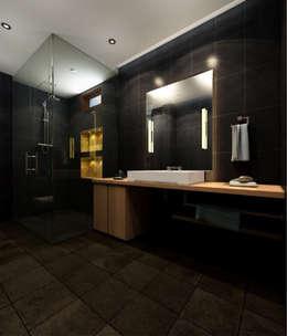 Suneja Residence Interior Design: modern Bathroom by Rhomboid Designs