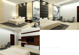 Suneja Residence Interior Design: modern Bedroom by Rhomboid Designs