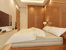 Bihani Residence and Interiors: modern Bedroom by Rhomboid Designs