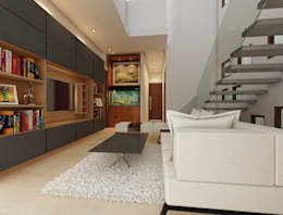 Bihani Residence and Interiors: modern Media room by Rhomboid Designs