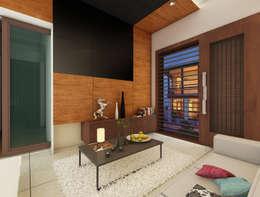Bihani Residence and Interiors: modern Living room by Rhomboid Designs