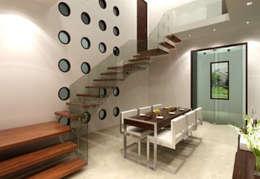 Bihani Residence and Interiors: modern Dining room by Rhomboid Designs