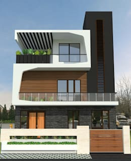 Bihani Residence and Interiors: modern Houses by Rhomboid Designs