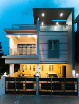 Front Facade:  Villas by M/s Studio7 Architects