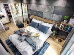 VERO CONCEPT MİMARLIK – Avcılar Cadde Bostan Bornova Konutları: modern tarz Yatak Odası