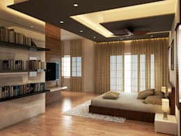Shobha's Residence,Panaiyur: modern Bedroom by M/s Studio7 Architects