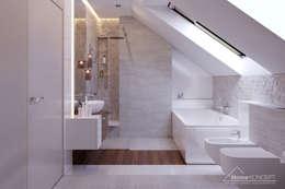 Salle de bains de style  par HomeKONCEPT | Projekty Domów Nowoczesnych