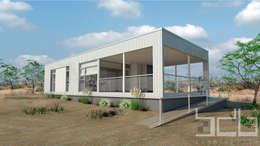 Vista Frente:  de estilo  por BDB Arquitectura