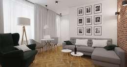 scandinavian Living room by AIN projektowanie wnętrz