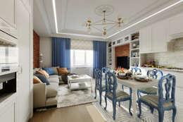 Проект квартиры для семьи с 4-мя детьми. Измайлово. : Гостиная в . Автор – Clarte Design