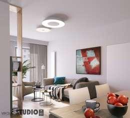 MIKOŁAJSKAstudio : modern tarz Oturma Odası