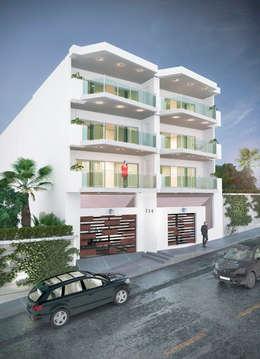 Edificio Residencial: Casas de estilo minimalista por GRUPO CONSTRUCTOR VALLES