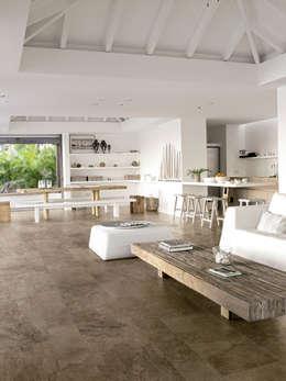 Stone mix- Limestone Brown: Restaurantes de estilo  por Skyfloor