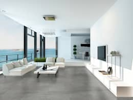 Porcelanato Concrete / Gante: Edificios de Oficinas de estilo  por Skyfloor