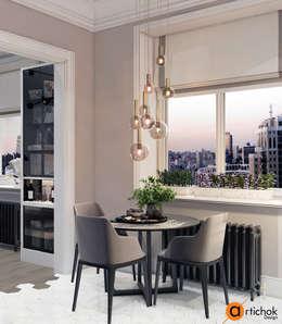 Дизайн интерьера небольшой кухни в смарт-квартире: Кухни в . Автор – Art-i-Chok