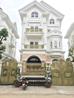Công trình cổng nhôm đúc tại Hồ Chí Minh:  Nhà by Cổng nhôm đúc Thiên Thanh Bảo