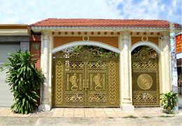 Дома в . Автор – Cổng nhôm đúc Thiên Thanh Bảo
