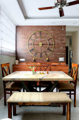 Residential Proj 2:  Dining room by shritee ashish & associates