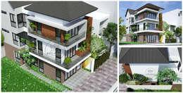 Thiết kế nhà phố hiện đại:   by CTy Thiết Kế Kiến Trúc Biệt Thự Hiện Đại Tại HCM