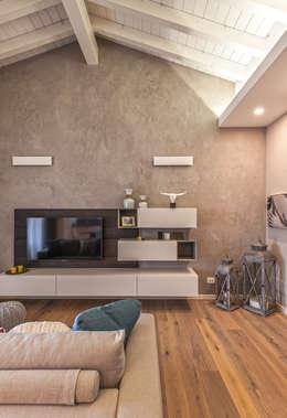 modern Living room by Studio Moltrasio - Zero4 Snc