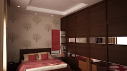 Bedroom 2 : modern Bedroom by NVT Quality Build solution