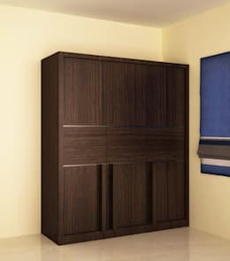 Wardrobe in different style shutter : modern Bedroom by NVT Quality Build solution