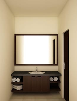 Vanity unit and mirror : modern Bathroom by NVT Quality Build solution