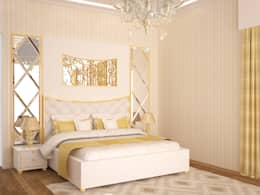 Master Bedroom : modern Bedroom by NVT Quality Build solution