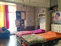 Mr. Siva Rangaswamy: rustic Nursery/kid's room by GREEN HAT STUDIO PVT LTD
