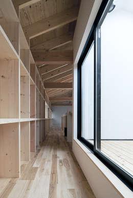 みなみきつきの家: 伊藤憲吾建築設計事務所が手掛けたベランダです。