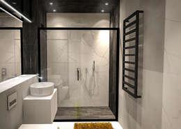 浴室 by Luxon Modern Design Łukasz Szadujko