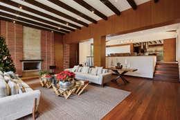 CASA ALCAPANI - Salón -: Salas de estilo clásico por FR ARQUITECTURA S.A.S.