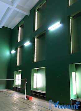 Villa Project at Renaissance Nature Walk: modern Gym by Deccan Structural Systems Pvt. Ltd.