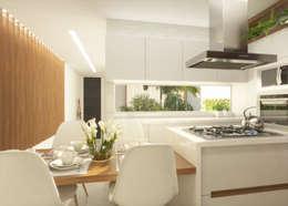مطبخ تنفيذ Daniela Andrade Arquitetura