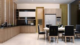 Kitchen Area & Dining Room:  Dining room by Pro Global Interior