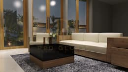 Living Room: rustic Living room by Pro Global Interior