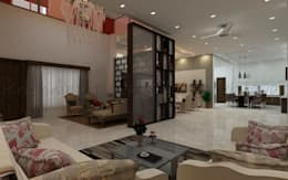 modern Living room by Regalias India Interiors & Infrastructure