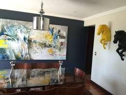REMODELACION VIVIENDA UNIFAMILIAR VITACURA: Casas de estilo moderno por ALLEGRE ARQUITECTOS