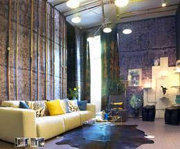 industrial Living room by ARTEFACTUM