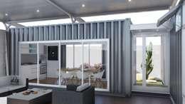 Salas de estilo industrial por ARBOL Arquitectos