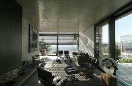 Einfamilienhaus Stuttgart: moderne Wohnzimmer von blocher partners