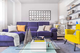 eclectic Living room by itta estudio