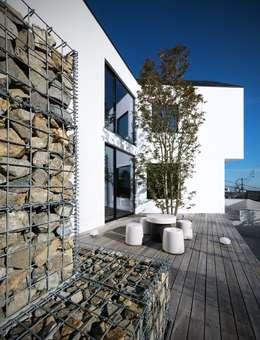 ウッドデッキ: 株式会社seki.designが手掛けた家です。