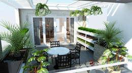 Hình ảnh 3D thiết kế nội thất :  Hiên, sân thượng by Công ty TNHH Xây Dựng TM – DV Song Phát