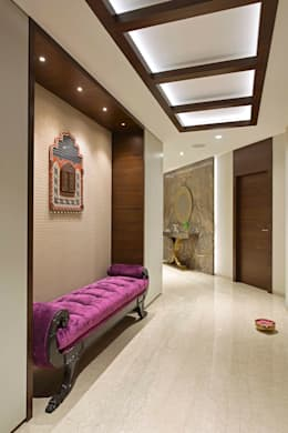 ENTRANCE FOYER:  Corridor & hallway by Ar. Milind Pai